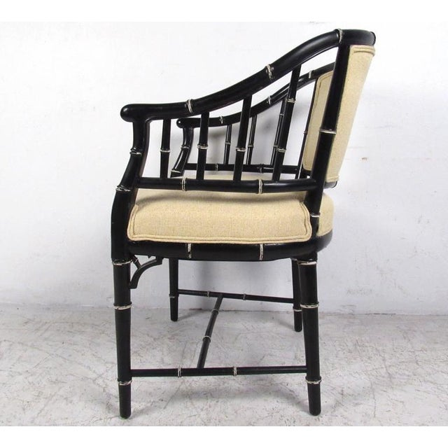 Mid-Century Modern Bamboo Style Dining Chairs- Set of 4 For Sale - Image 5 of 10
