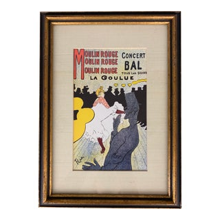 Toulouse Lautrec Moulin Rouge Color Framed Lithograph For Sale