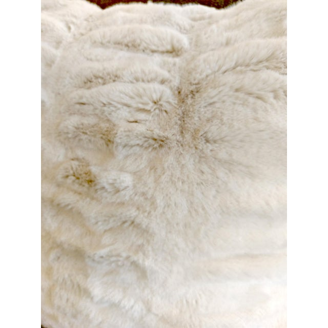Boho Chic Modern Faux Fur Pillow For Sale - Image 3 of 3