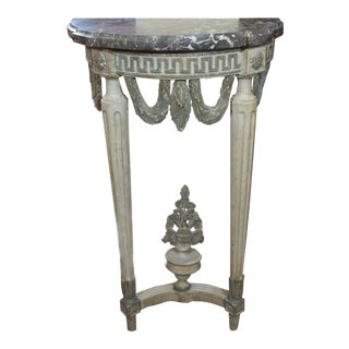Louis XVI Style Demi Lune Console For Sale