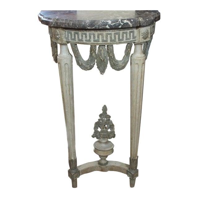 Louis XVI Style Demi Lune Console For Sale