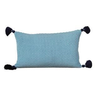 Ella Handwoven Rectangle Tassel Pillow For Sale
