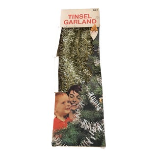 Vintage Christmas Tree Tinsel in Box For Sale