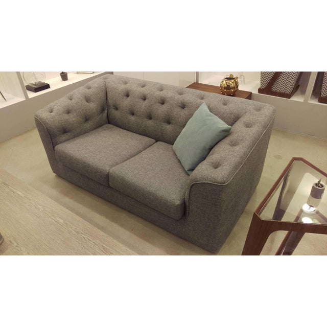 Charcoal Button Back Sofas - A Pair - Image 5 of 5