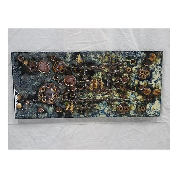 Ceramic Mid-Century Helmut Friedrich Schäffenacker Ceramic Wall Plaque For Sale - Image 7 of 7