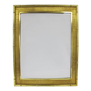 1960s Boho Chic Syroco Faux Bamboo Mirror For Sale