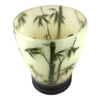 Vintage Bamboo Design Trash Bin For Sale