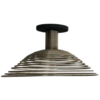 Spiral Spring Chrome Industrial Style Chandelier by Angelo Mangiarotti For Sale