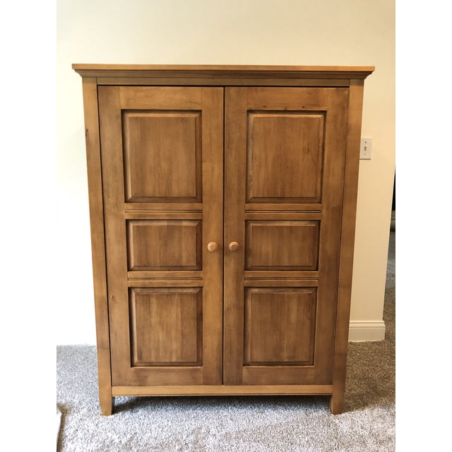 Ethan Allen Ethan Allen Transitional Maple Amoire For Sale - Image 4 of 5