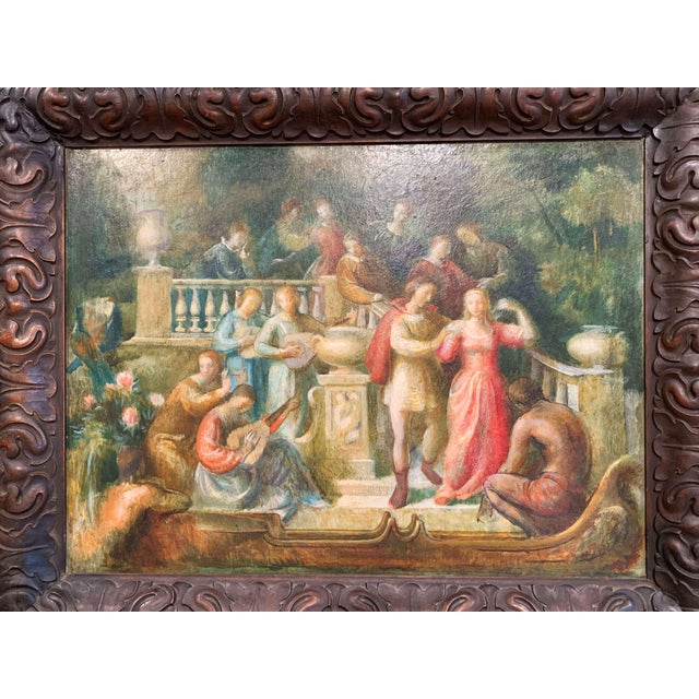 For a pop of vibrant color, look no further than this Spanish painting on board. Painted in Spain circa 1870, the scene...