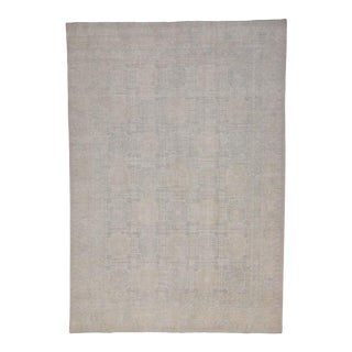Modern Khotan Rug with Transitional Style and Muted Light Colors