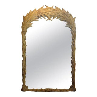 Vintage Dorothy Draper Style Palm Frond Mirror For Sale