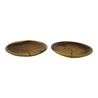 Primitive Style Turned Bowls - A Pair For Sale