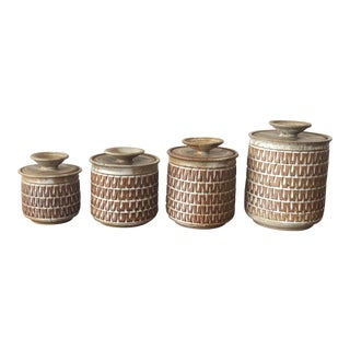 Gerry Wiliams Lidded Vases - Set of 4 For Sale