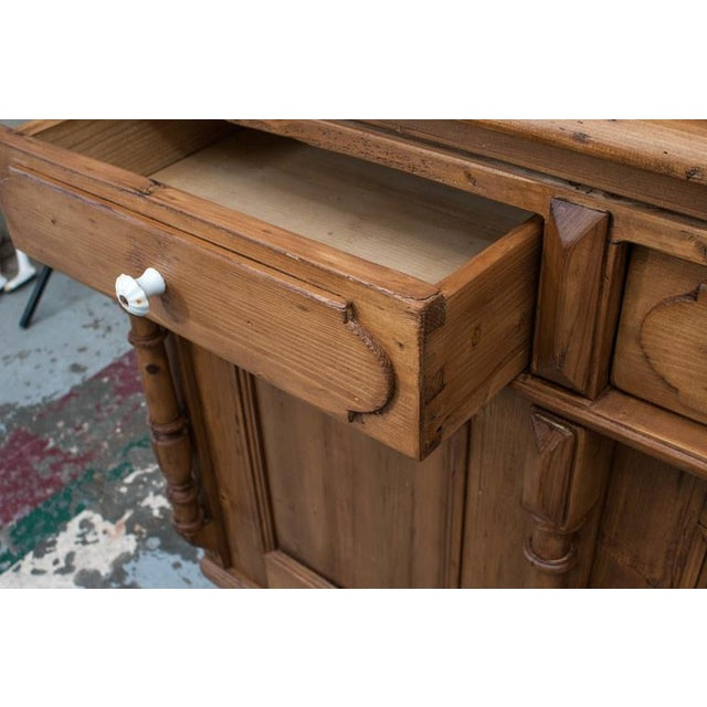Metal Pine Glazed Buffet For Sale - Image 7 of 10