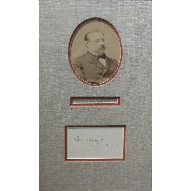 Photorealism Grover Cleveland -22nd & 24th US President - Original Signature with Photograph-1891 For Sale - Image 3 of 7