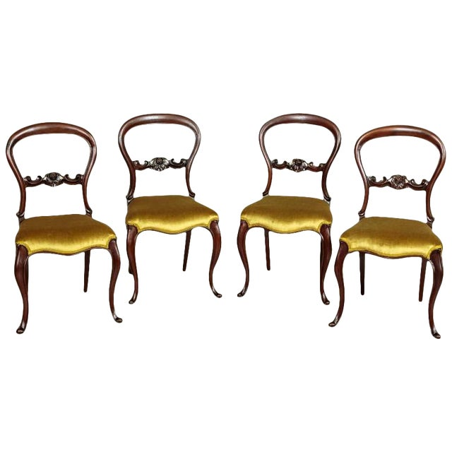19th Century Louis Philippe Mahogany Chairs Circa 1880 - Set of 4 For Sale