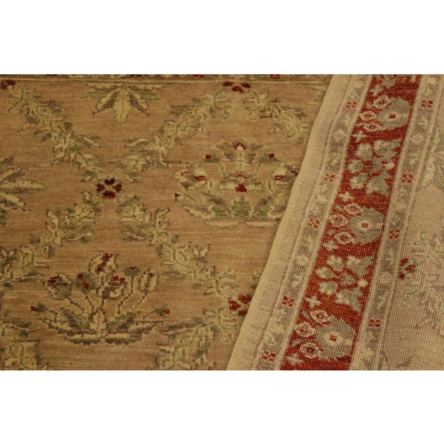 Textile Kafkaz Peshawar Fatima Tan/Rust Hand-Knotted Rug - 4'1 X 5'9 For Sale - Image 7 of 8