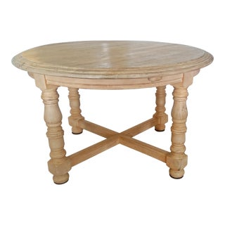 Round Dining Table With Leaf For Sale
