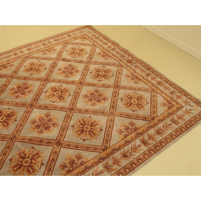 Hollywood Regency Regency Wool Rug - 9' X 13' For Sale - Image 3 of 13
