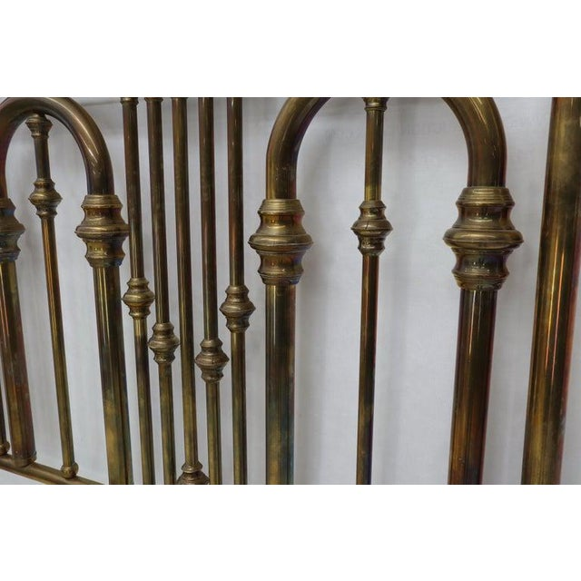 "Large 72"" tall brass king size headboard."