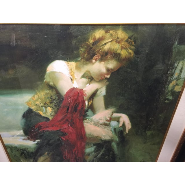 Pino Daeni Lithograph Contemplation Signed Limeted Edition For Sale In San Francisco - Image 6 of 7