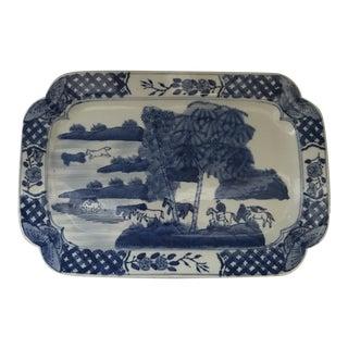Chinese Blue & White Porcelain Platter