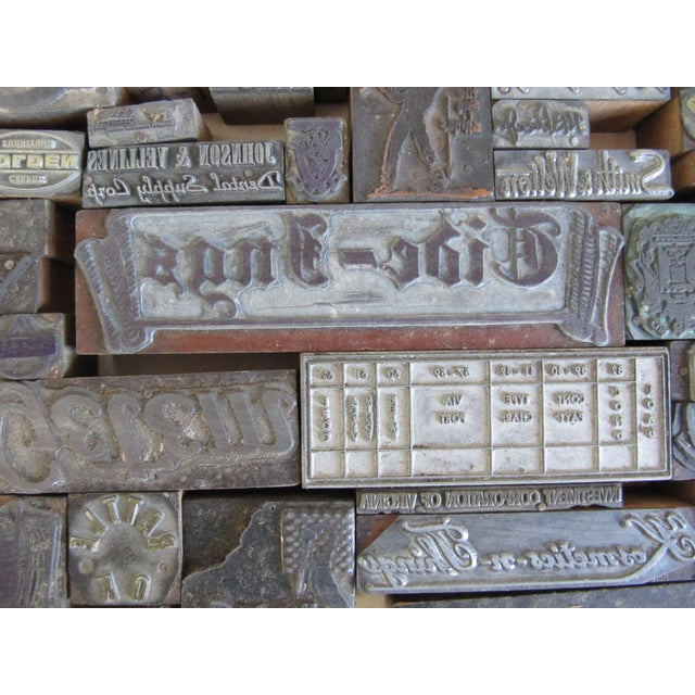 Vintage Letterpress Blocks - 116 Pieces - Image 4 of 6