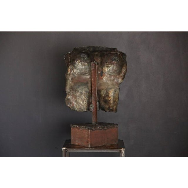 1960s Brutalist Bronze Sculpture of a Female Torso For Sale - Image 5 of 9