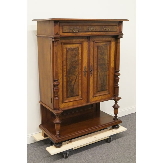 Traditional 20th Century Traditional Burl Walnut and Mahogany Court Cupboard For Sale - Image 3 of 12