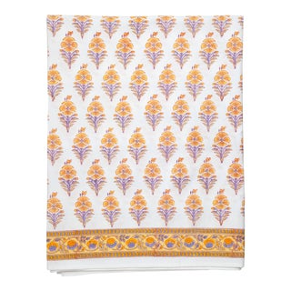 Juhi Flower Fitted Sheet, King - Yellow For Sale