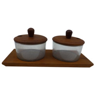 MCM Danish Modern Condiment Server in Teak For Sale