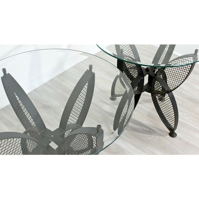 Metal Mid Century Modern Tempestini Salterini Butterfly Patio Pair Side Tables 1960s For Sale - Image 7 of 12