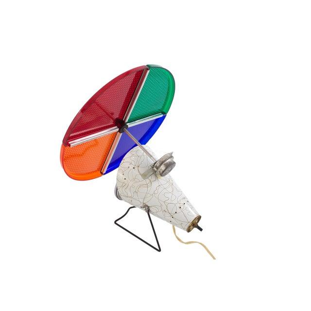 Silver Christmas Tree Color Wheel: Retro Aluminum Christmas Tree With Color Wheel Light