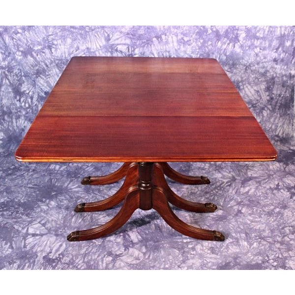 64596f4ad1b8 1930 Duncan Phyfe Antique Mahogany Drop Leaf Dining Table For Sale - Image  5 of 11
