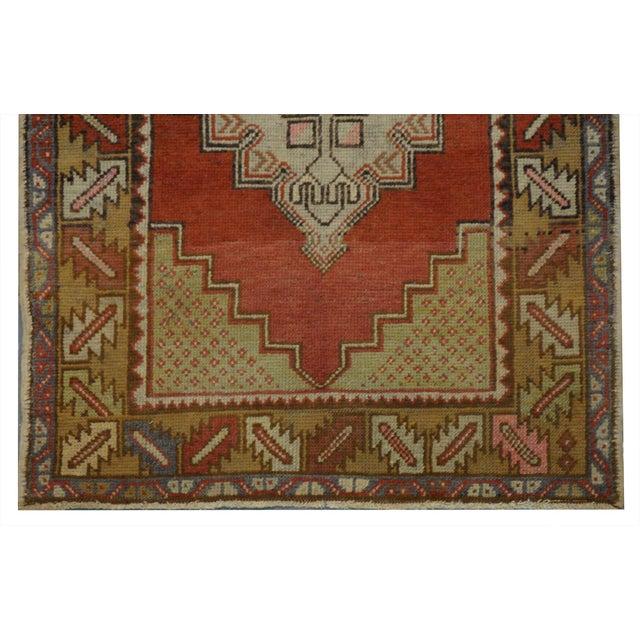 Modern Vintage Turkish Oushak Rug - 3′ × 9′8″ For Sale - Image 3 of 4