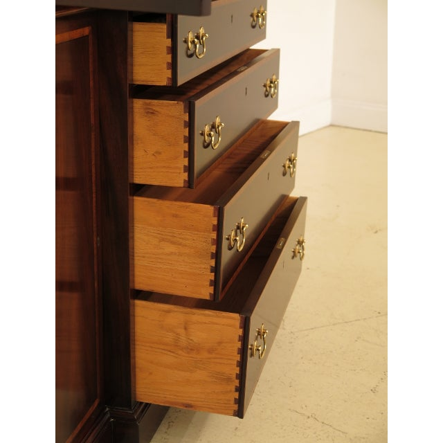 Kittinger Richmond Hill Collection Mahogany Breakfront For Sale - Image 9 of 14