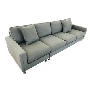 Modern Safavieh 4 Cushion Sofa For Sale