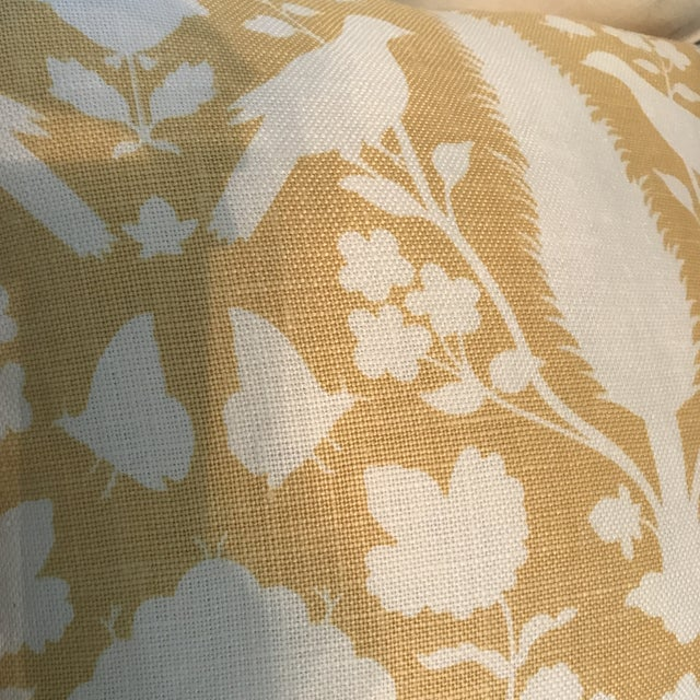 Schumacher Chenonceau Linen Pillows - A Pair For Sale - Image 5 of 7