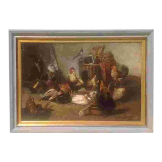 19th C. European Oil Painting For Sale