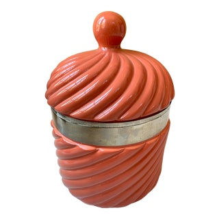 1960s Large Italian Ceramic Ice Bucket by Tommaso Barbi For Sale