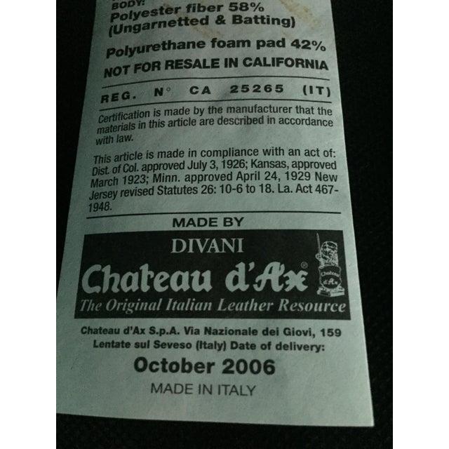 Divani Chateau d\'Ax Tan Italian Leather Sofa   Chairish