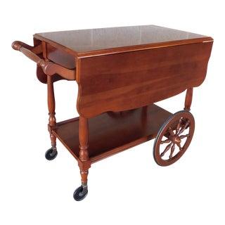 Harden Furniture Vintage Rolling Drop Side Serving Cart For Sale