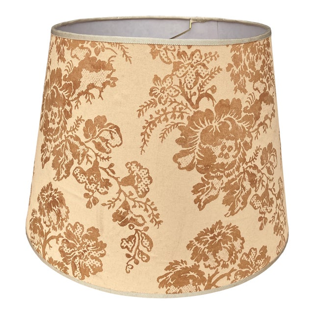 Brunchwig & Fils Floral Print Fabric Lampshade For Sale