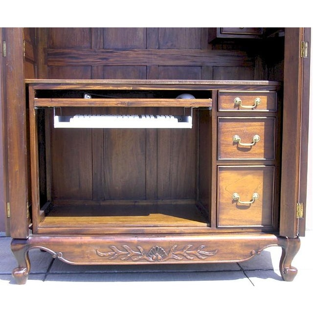 Victorian Antique Style Armoire With Hidden Desk - Image 7 of 10
