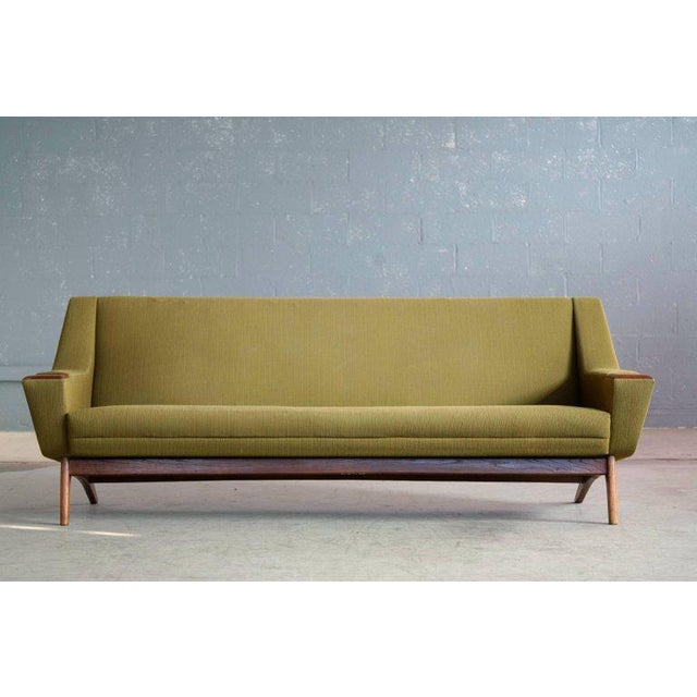 Mid-Century Modern Danish Midcentury Sofa in Wool and Teak by Erhardsen and Erlandsen for Eran For Sale - Image 3 of 10
