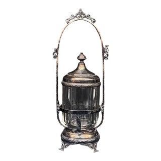 Antique Victorian Hartford Quadruple Silver Plate Pickle Caster Serving Jar For Sale