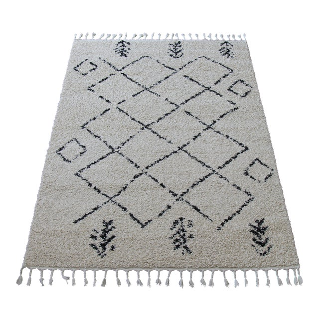 Contemporary Plush Rug with Moroccan Design - 8' x 11' - Image 1 of 9