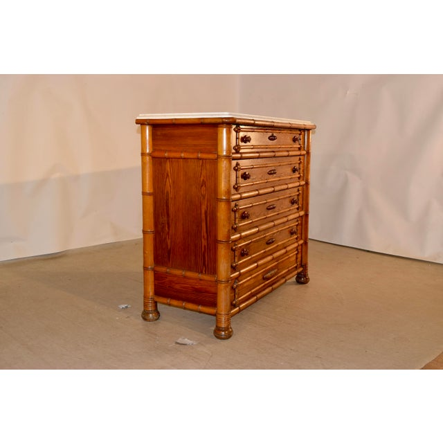 Late 19th Century 19th C. French Chest of Drawers For Sale - Image 5 of 11