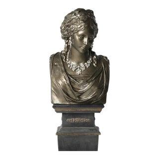 Bronze Goddess Art Bust For Sale